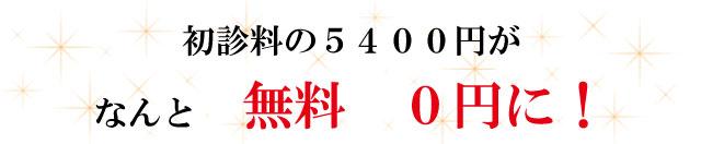 なんと無料0円